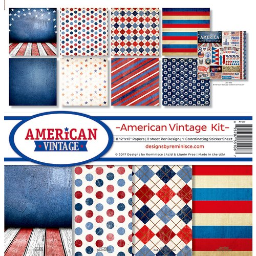Reminisce - American Vintage Collection - 12 x 12 Collection Kit