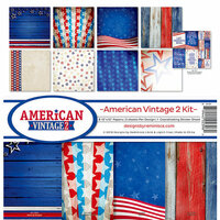 Reminisce - American Vintage 2 Collection - 12 x 12 Collection Kit