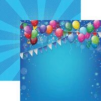 Reminisce - Birthday Bash Collection - 12 x 12 Double Sided Paper - Birthday Bash