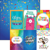 Reminisce - Birthday Bash Collection - 12 x 12 Double Sided Paper - Birthday Bonanza