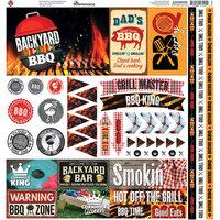 Reminisce - Backyard BBQ Collection - 12 x 12 Elements Sticker