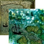Reminisce - Buccaneer Bay Collection - 12 x 12 Double Sided Paper - Edge of the World