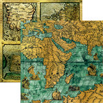 Reminisce - Buccaneer Bay Collection - 12 x 12 Double Sided Paper - Pirate Maps