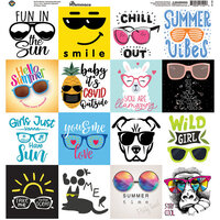 Reminisce - Beachin' Sunglasses Collection - 12 x 12 Elements Sticker
