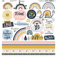 Reminisce - Be Kind Collection - 12 x 12 Elements Sticker