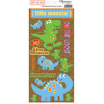 Reminisce - Boys Gone Wild Collection - Die Cut Cardstock Stickers - Dinosaur, CLEARANCE