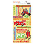 Reminisce - Boys Gone Wild Collection - Die Cut Cardstock Stickers - Let's Go, CLEARANCE