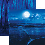 Ella and Viv Paper Company - Blue World Collection - 12 x 12 Double Sided Paper - Midnight Blue
