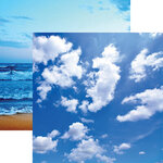 Ella and Viv Paper Company - Blue World Collection - 12 x 12 Double Sided Paper - Sky Blue
