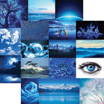 Ella and Viv Paper Company - Blue World Collection - 12 x 12 Double Sided Paper - Shades of Blue