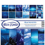 Ella and Viv Paper Company - Blue World Collection - 12x12 Collection Kit
