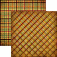 Reminisce - Best of Harvest Collection - 12 x 12 Double Sided Paper - Autumn Plaids
