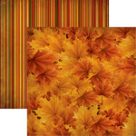 Reminisce - Best of Harvest Collection - 12 x 12 Double Sided Paper - Copper Colors