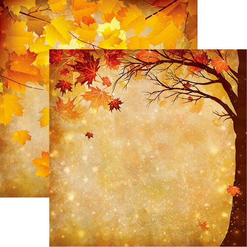 Reminisce - Best of Harvest Collection - 12 x 12 Double Sided Paper - Magical Fall
