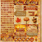 Reminisce - Best of Harvest Collection - 12 x 12 Cardstock Stickers - Variety