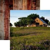 Reminisce - Barnwood Beauty Collection - 12 x 12 Double Sided Paper - Sheet 01