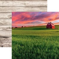 Reminisce - Barnwood Beauty Collection - 12 x 12 Double Sided Paper - Sheet 06