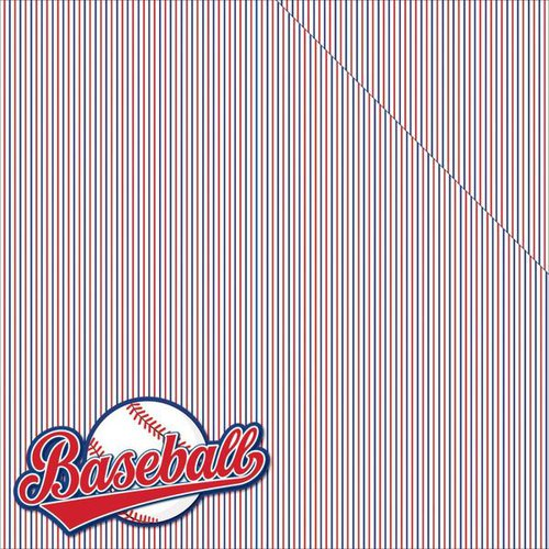 Reminisce - Baseball Collection - 12 x 12 Double Sided Paper - All American