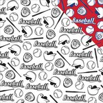 Reminisce - Baseball Collection - 12 x 12 Double Sided Paper - Baseball Icons
