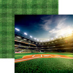 Reminisce - Baseball 2 Collection - 12 x 12 Double Sided Paper - Bright Lights