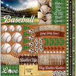 Reminisce - Baseball 2 Collection - 12 x 12 Cardstock Stickers - Elements
