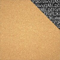 Reminisce - Back to School Collection - 12 x 12 Double Sided Paper - Cork Board