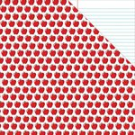 Reminisce - Back to School Collection - 12 x 12 Double Sided Paper - Red Apple