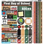 Reminisce - Back to School Collection - 12 x 12 Cardstock Stickers - Multi