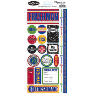Reminisce - Back to School Collection - Sticker - Freshman