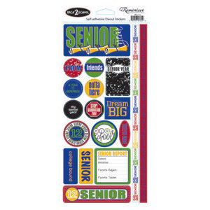 Reminisce - Back to School Collection - Sticker - Senior