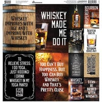 Reminisce - One Bourbon, One Scotch, One Whiskey Collection - 12 x 12 Elements Sticker