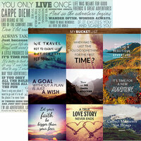 Reminisce - Bucket List Collection - 12 x 12 Double Sided Paper - YOLO