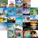 Reminisce - Bucket List Collection - 12 x 12 Double Sided Paper - Bucket List