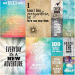 Reminisce - Bucket List Collection - 12 x 12 Cardstock Stickers - Poster