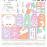 Reminisce - Bunny Hop Collection - 12 x 12 Cardstock Stickers - Elements