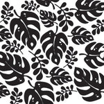 Reminisce - Black and White Collection - Patterned Paper - Basic Palm, CLEARANCE