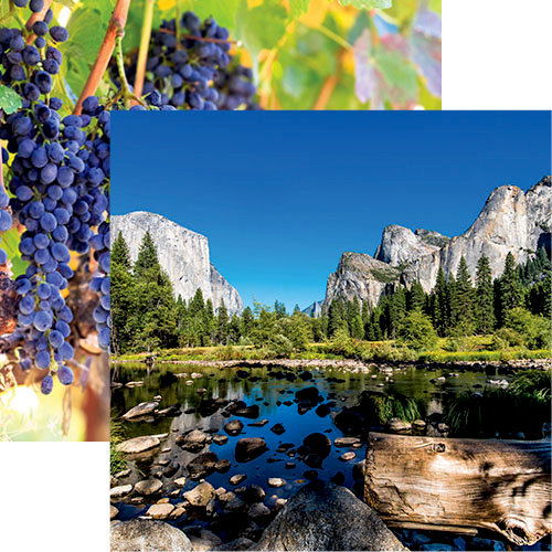 Reminisce - California Collection - 12 x 12 Double Sided Paper - Yosemite