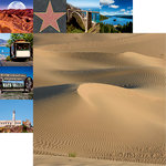 Reminisce - California Collection - 12 x 12 Double Sided Paper - Death Valley