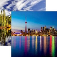 Reminisce - Canada Collection - 12 x 12 Double Sided Paper - Toronto Skyline