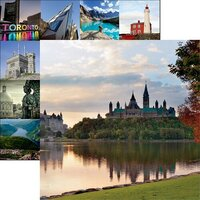 Reminisce - Canada Collection - 12 x 12 Double Sided Paper - Parliament Hill