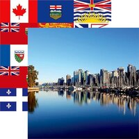 Reminisce - Canada Collection - 12 x 12 Double Sided Paper - Vancouver Skyline