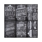 Reminisce - Chalkboard Christmas Collection - 12 x 12 Cardstock Stickers - Poster
