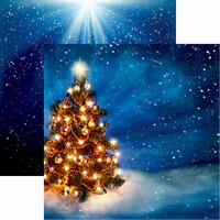 Reminisce - Christmas Eve Collection - 12 x 12 Double Sided Paper - O Christmas Tree