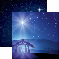 Reminisce - Christmas Eve Collection - 12 x 12 Double Sided Paper - O Holy Night