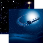 Reminisce - Christmas Eve Collection - 12 x 12 Double Sided Paper - Santa's on His Way