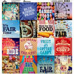 Reminisce - County Fair Collection - 12 x 12 Cardstock Stickers - Square