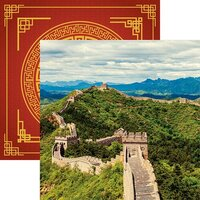Reminisce - China Collection - 12 x 12 Double Sided Paper - Great Wall