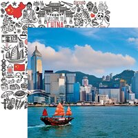 Reminisce - China Collection - 12 x 12 Double Sided Paper - Hong Kong