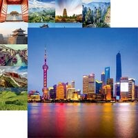 Reminisce - China Collection - 12 x 12 Double Sided Paper - Shanghai