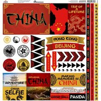 Reminisce - China Collection - 12 x 12 Elements Sticker
